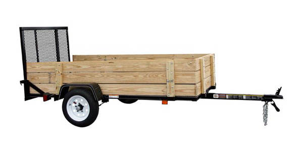 4X8WOODY Carry-On Utility Single Axle Trailer