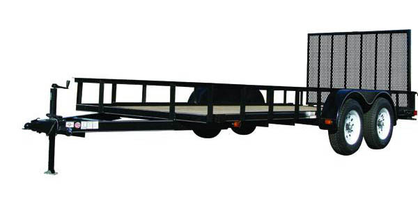 6X12GW1BRK Carry-On Utility Double Axle Trailer