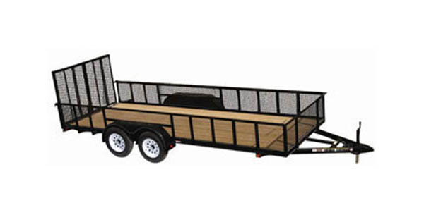 6X14GWHS2BRK Carry-On Utility Double Axle Trailer