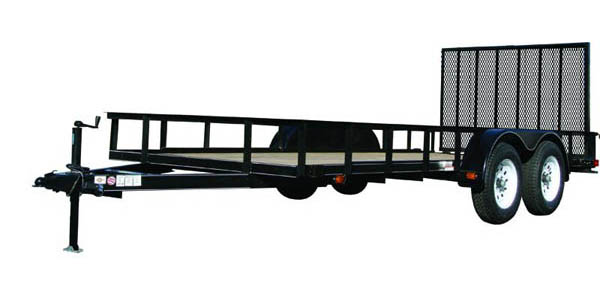 7X12GW1BRK Carry-On Utility Double Axle Trailer