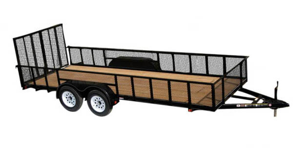 7X12GWHS1BRK Carry-On Utility Double Axle Trailer